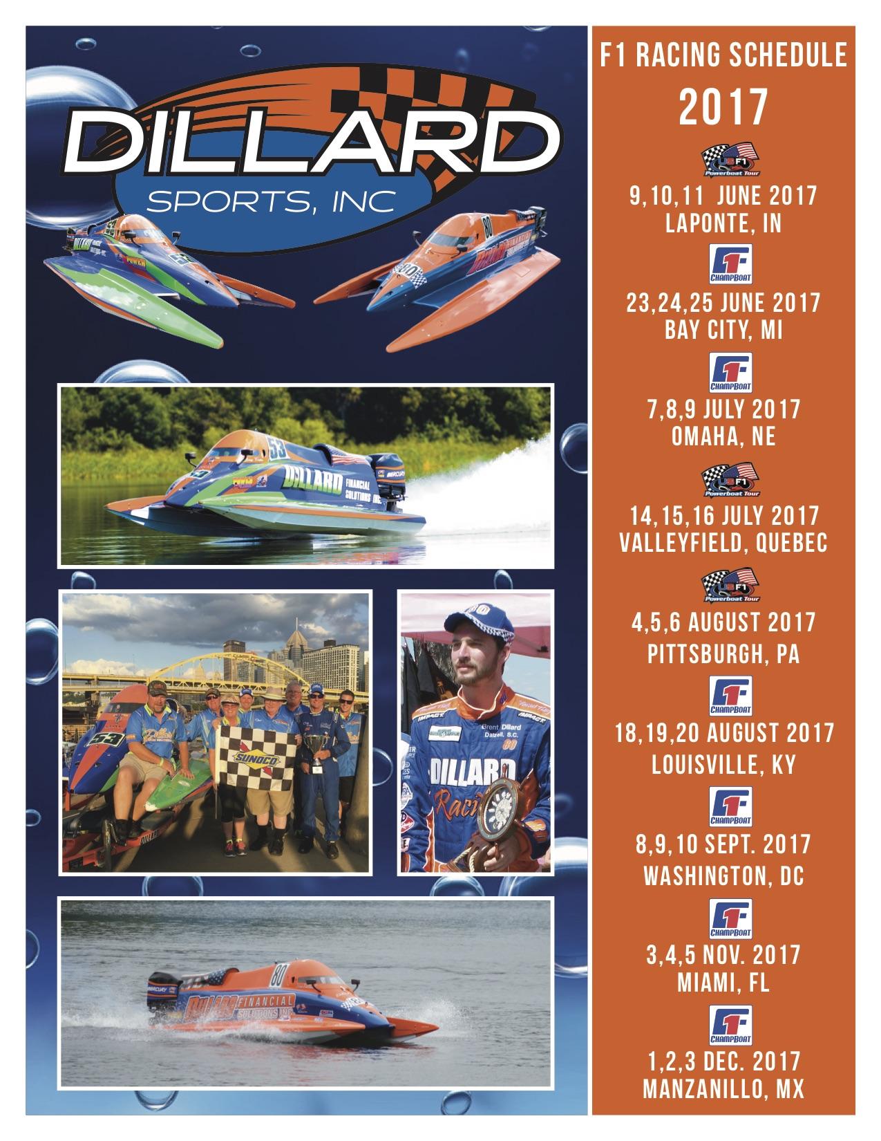Racing Calendar June : Racing schedule dillard